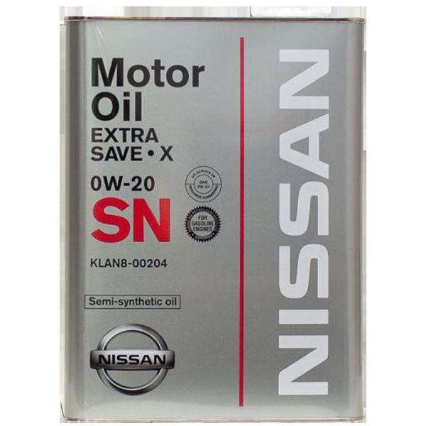 Nissan Extra Save X SN 0W-20 (KLAN8-00204)