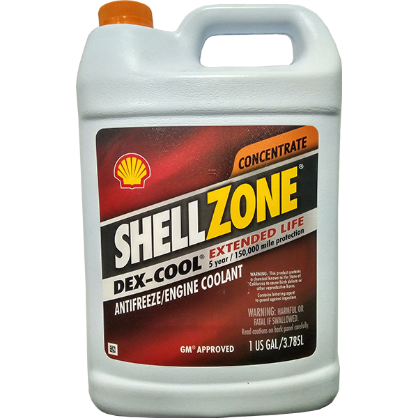 Shell ShellZone Dex-Cool Antifreeze Concentrate (RED)
